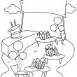 Line Art Garden Party — Stock Photo #7599739