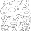Line Art Giant Mushroom — Stock Photo #7599741