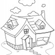 Line Art House — Stock Photo