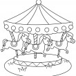 Line Art Merry Go Round — Stock Photo