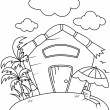 Line Art Rest House — Stock Photo #7599926