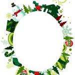 圣诞帧 — 图库照片