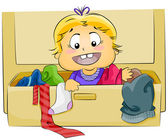 Baby in Drawer — Stock Photo