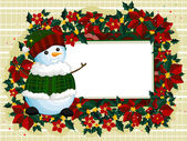 Snowman Frame — Stock Photo