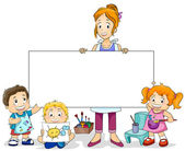 Art Class for Kids — Stock Photo