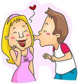 Man Kissing Girl — Stock Photo