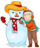 Snowman Kid — Stock Photo
