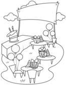 Line Art Garden Party — Stock Photo
