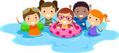 Niños de la piscina — Foto de Stock