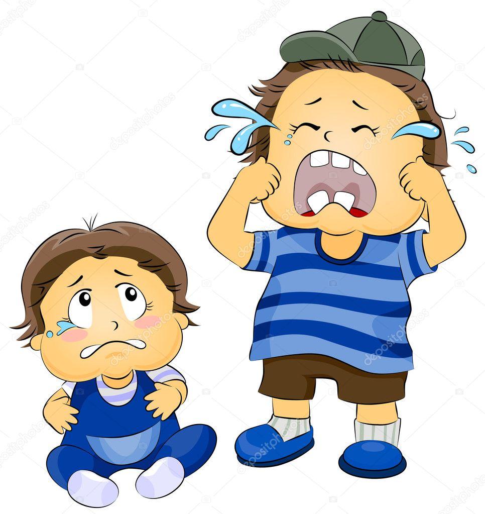 Weinende Kinder — Stockfoto #7598881