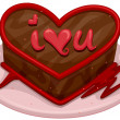 Valentine Cake — Stock Photo #7600383