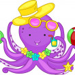 Royalty-Free Stock Photo: Beach Octopus