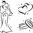 Wedding Stencil — Foto de Stock