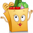 Stock Photo: Grocery Bag