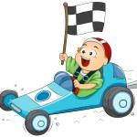 Go Kart Kid — Stock Photo