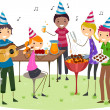 Birthday Barbecue Party — Stock Photo
