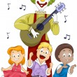 Children Singing — Stock Photo