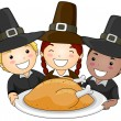 Thanksgiving Pilgrim — Stock Photo #7601148