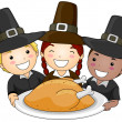 Thanksgiving Pilgrim — Stockfoto #7601148