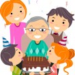 Stock Photo: Birthday Grandpa