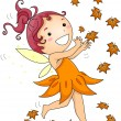 Autumn Fairy — Stock Photo