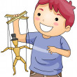 Stock Photo: Puppeteer
