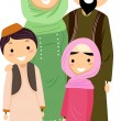 Muslim Family — Stock Photo