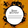 Stock Photo: Halloween Frame