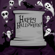 Halloween Tombstone - Stock Photo