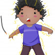 Stock Photo: Electrocuted Kid