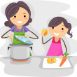 Family Cook — Stock Photo
