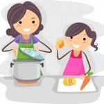 Family Cook — Stock Photo