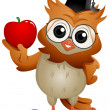 Foto de Stock  : Owl Apple