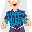 Father's Day Card — Stock Photo