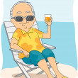 Stock Photo: Retirement Vacation