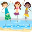 Beach Friends — Stockfoto