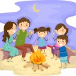 Family Bonfire - Foto Stock