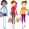 Girls Shopping — Stock Photo #7602126