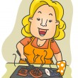 Grill Lady — Stock Photo