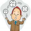 Businessman Juggling Time - Stock Photo