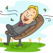 businessman relaxing — Stock Photo