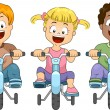 Kids Biking — Stock Photo
