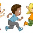 Kids Marathon — Stock Photo