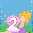Mermaid Birthday Candle — Photo
