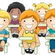 Kids Attending Class — Stock Photo