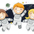 Astronaut Kids — Stock Photo