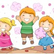 Kids in Candyland - Stockfoto