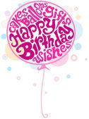 Birthday Balloon — Stock Photo