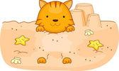 Летняя кошка — Стоковое фото