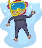 Snorkeling Monkey — Stock Photo